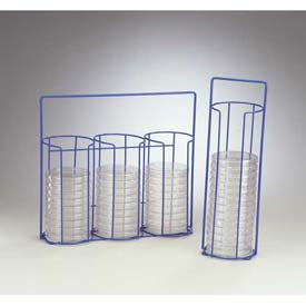 Bel-Art Poxygrid Petri Dish Carrying Rack, 1 Column, Holds (15) 100mm Dishes, Blue, 1/PK by