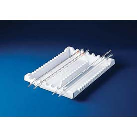 "Bel-Art Pipette Tray Rack 189400000, Styrene, 11-1/4""L x 8-1/2""W x 1-1/8""H, White, 1/PK Package... by"