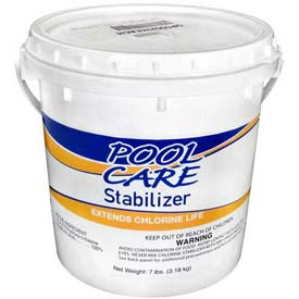 pool equipment supplies pool chemicals pool care chlorine stabilizer conditioner 7 lbs