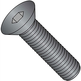 "Flat Socket Cap Screw 3/8-16 x 1-1/4"" Steel Alloy Thermal Black Oxide FT UNC 100 Pk by"