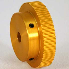 100 Tooth Timing Pulley, (Mxl) 2.03mm Pitch, Gold Anodized Aluminum, 100mp025m6a8 - Min Qty 3