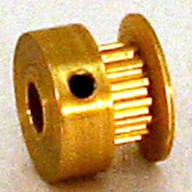 10 Tooth Timing Pulley, (Mxl) 2.03mm Pitch, Gold Anodized Aluminum, 10mp012m6ca3 - Min Qty 8