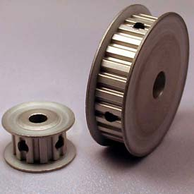 """10 Tooth Timing Pulley, (Xl) 1/5"""" Pitch, Clear Anodized Aluminum, 10xl037-3fa2 - Min Qty 10"""