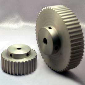 14 Tooth Timing Pulley, (Htd) 5mm Pitch, Clear Anodized Aluminum, 14-5m15-6a3 - Min Qty 8