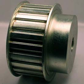 """14 Tooth Timing Pulley, (H) 1/2"""" Pitch, Clear Zinc Plated Steel, 14h150-6fs8 - Min Qty 3"""