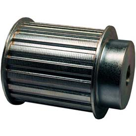 """16 Tooth Timing Pulley, (H) 1/2"""" Pitch, Clear Zinc Plated Steel, 16h300-6fs8 - Min Qty 2"""