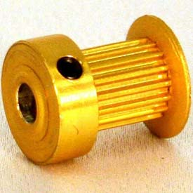 18 Tooth Timing Pulley, (Mxl) 0.08 Pitch, Gold Anodized Aluminum, 18mp037-6ca3 - Min Qty 8