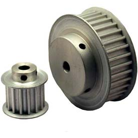 19 Tooth Timing Pulley, (Htd) 5mm Pitch, Clear Anodized Aluminum, 19-5m15-6fa3 - Min Qty 8