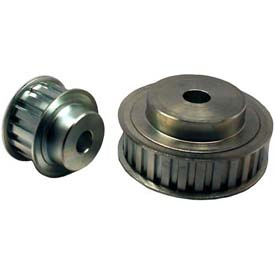 """19 Tooth Timing Pulley, (L) 3/8"""" Pitch, Clear Zinc Plated Steel, 19l075-6fs6 - Min Qty 3"""