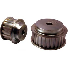 """19 Tooth Timing Pulley, (L) 3/8"""" Pitch, Clear Zinc Plated Steel, 19l100-6fs6 - Min Qty 3"""