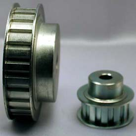 "20 Tooth Timing Pulley, (L) 3/8"" Pitch, Clear Zinc Plated Steel, 20l050-6fs6 - Min Qty 3"