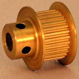 20 Tooth Timing Pulley, (Mxl) 2.03mm Pitch, Gold Anodized Aluminum, 20mp037m6fa4 - Min Qty 8
