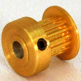 21 Tooth Timing Pulley, (Mxl) 0.08 Pitch, Gold Anodized Aluminum, 21mp025-6ca3 - Min Qty 8