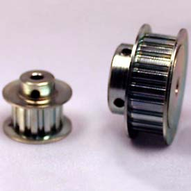 """21 Tooth Timing Pulley, (Xl) 1/5"""" Pitch, Clear Zinc Plated Steel, 21xl037-6fs3 - Min Qty 5"""
