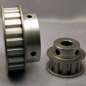 """24 Tooth Timing Pulley, (L) 3/8"""" Pitch, Clear Anodized Aluminum, 24l050-6fa6 - Min Qty 3"""