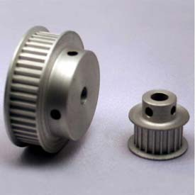 28 Tooth Timing Pulley, (Pwrgrip Gt) 3mm Pitch, Clear Anodized Aluminum, 28-3p15-6fa3 - Min Qty 4