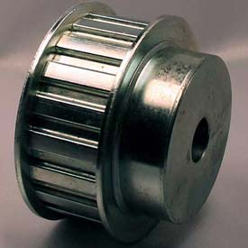 """28 Tooth Timing Pulley, (H) 1/2"""" Pitch, Clear Zinc Plated Steel, 28H100-6FS8"""