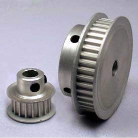 32 Tooth Timing Pulley, (Pwrgrip Gt) 2mm Pitch, Clear Anodized Aluminum, 32-2p06-6fa3 - Min Qty 8
