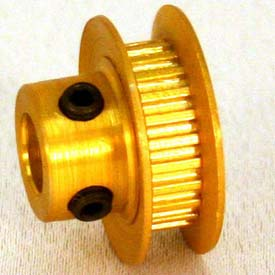 32 Tooth Timing Pulley, (Mxl) 0.08 Pitch, Gold Anodized Aluminum, 32mp012-6fa3 - Min Qty 8