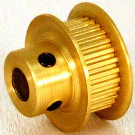 32 Tooth Timing Pulley, (Mxl) 0.08 Pitch, Gold Anodized Aluminum, 32mp025-6fa3 - Min Qty 8
