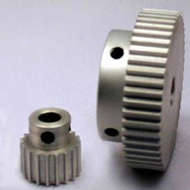 48 Tooth Timing Pulley, (Htd) 3mm Pitch, Clear Anodized Aluminum, 48-3m06-6a4 - Min Qty 5