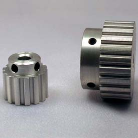 60 Tooth Timing Pulley, (Xl) 5.08mm Pitch, Clear Anodized Aluminum, 60xl037m6wa12 - Min Qty 2