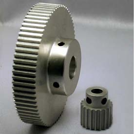62 Tooth Timing Pulley, (Htd) 3mm Pitch, Clear Anodized Aluminum, 62-3m09m6a8 - Min Qty 3
