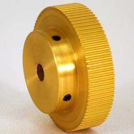 80 Tooth Timing Pulley, (Mxl) 0.08 Pitch, Gold Anodized Aluminum, 80mp037-6a4 - Min Qty 3