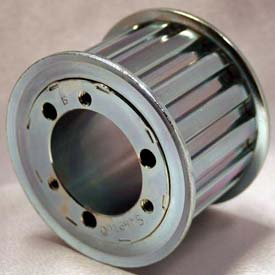 """48 Tooth Timing Pulley, (L) 3/8"""" Pitch, Clear Zinc Plated Steel, QD48L100"""