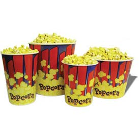 BenchMark USA 41430 Popcorn Buckets 130 oz 50/Tubs by