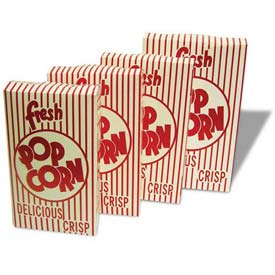 BenchMark USA 41557 Closed Top Popcorn Boxes 0.95 oz 100/Boxes by