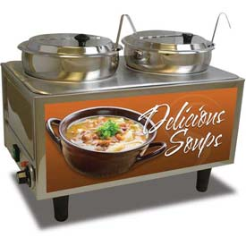 Benchmark Double Soup Station With Two Ladles 7 Quart Capacity 51072-S by