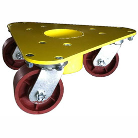 Bond Extreme Weight Steel Triangular Cup Dolly 5500 Ductile Iron Wheels 3500 Lb. Cap. by