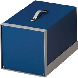 "Bud BB-1802-RB Showcase Small Cabinet Royal Blue Texture 11""W x 5.5""D x 8.18"" H"