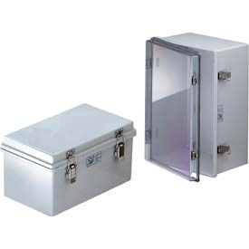"Bud Nba-10164 Ul/Nema/Iec Nba Series Plastic Box w/Clear Door 11.80"" L X 7.85"" W X 7.09"" H-Min Qty 2"