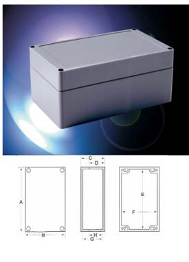 """Bud Pnr-2606 Nema 4x-Pnr Series Box 9.45"""" L X 4.72"""" W X 3.94"""" H Light Gray Body And Cover-Min Qty 4"""