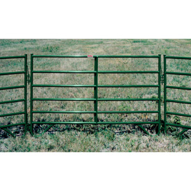 """Behlen Country 16 Gauge Medium-Duty Corral Panel 88"""" Usable Length, 92""""L x 1-5/8""""W x 50""""H, Green"""