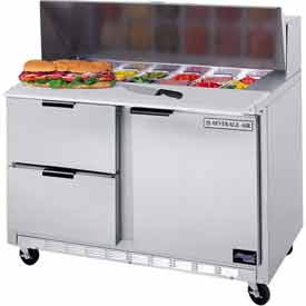 "Food Prep Tables SPED48 Elite Series Cutting Top w/ Drawers, 48""W - SPED48-12C-4"
