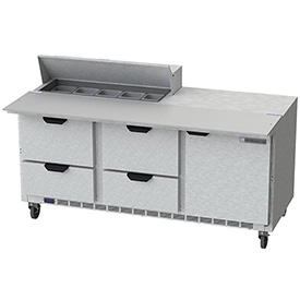 """Food Prep Tables SPED72 Elite Series Cutting Top w/ Drawers, 72""""W - SPED72-10C-4"""