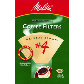 Melitta U S A Inc 624412 No. 4 Cone Natural Brown Coffee Filter by
