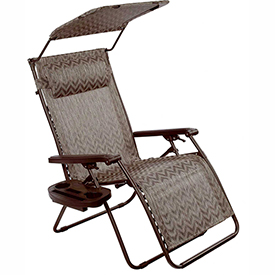 Bliss Deluxe Gravity Free Recliner w/ Covered Bungee, Platinum Chevron