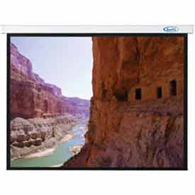 70 x 70 Sorrento Electric Screen Matte White Fabric Sq. Format Projector Screen