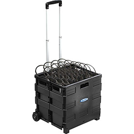 Buy Hear-U-Go, 50 Pack Personal Economical Headphones in Rolling Crate
