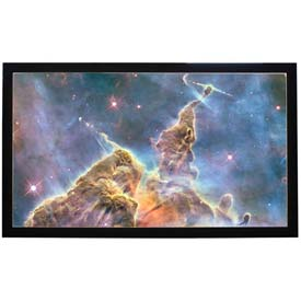 "100"" Diagonal, 49 x 87 Viewable Fixed Frame Projector Screen, 16:9 Format"