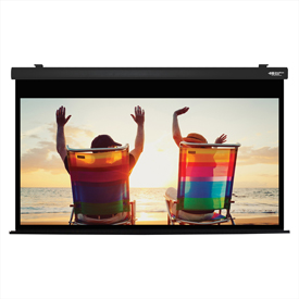 "HamiltonBuhl Electric Projector Screen - 100"" Diagonal - HDTV Format - Black Frame"