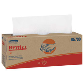 "WypAll® L40 Wipers in Pop-Up® Box - 9-13/16"" x 16-3/8"" - KIM05790"