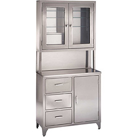 Blickman 7956SS Kennedy Stainless Steel Freestanding Medical Storage Cabinet
