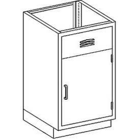 "Blickman AC24HS Stainless Steel Base Cabinet with 1 Door, Sink Unit, 24-1/8""W x 22""D x 35-3/4""H"
