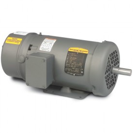 Baldor Motor BM3707, 5HP, 1725RPM, 3PH, 60HZ, 215, 3634M, TEFC, F1, B
