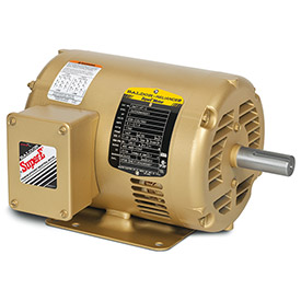 Baldor CEM31155 2HP 3600RPM 56C Frame 3PH 230/460V, ODP, C-Face Rigid, Premium Efficiency